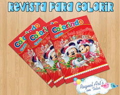 Revista de colorir natal do mickey 3