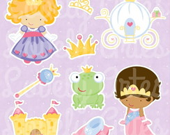 Kit Scrapbook Digital Princesinhas
