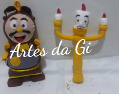 Kit bela e fera personagens