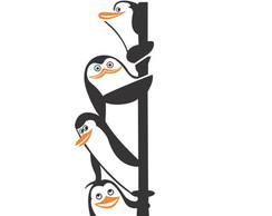 Adesivo Decorativo Animal Pinguins