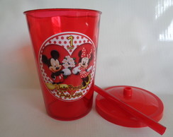 Copo c/ Canudo 700ml Mickey e Minnie 5