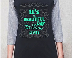 BABY LOOK 3/4 RAGLAN - BEAUTIFUL DAY