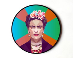 Quadro redondo Frida (Pop Art)