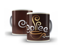 Caneca de porcelana Coffee