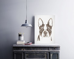 "Placa decorativa ""Bulldog Francês"""