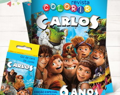 Kit Revista + Giz Os Croods