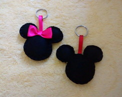 Chaveiro Minnie e Michey