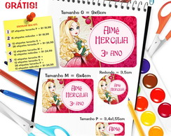 Etiqueta Escolar - Ever After High