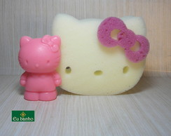 KIT ESPONJA E SABONETE HELLO KITTY