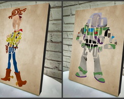Poster/Quadro A4 2 pçs Toy Story