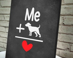 Poster / Quadro A4 Love Dog