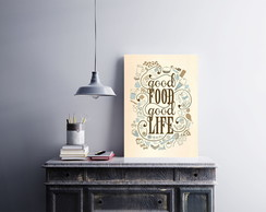 "Placa decorativa ""Good Food Good Life"""