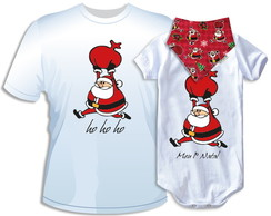Kit Natal_Body+Babador+Camiseta