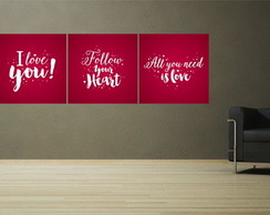 Quadros decorativos love