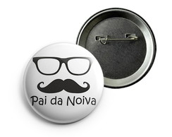Botton Pai da Noiva Alfinete - 38mm