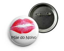 Botton Mãe do Noivo Alfinete - 38mm
