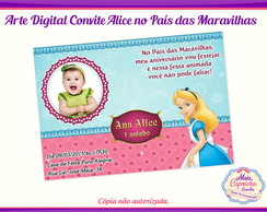 Convite Digital Alice no País das Maravi