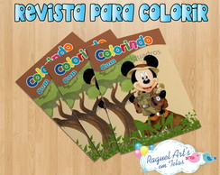 Kit Colorir 1: Revista Mickey Safari