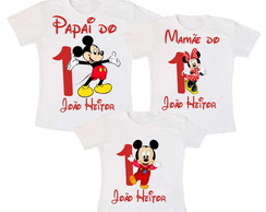 Kit 3 Camiseta Mickey 1 Aninho