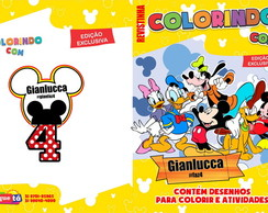Revistinha de colorir - turma do Mickey