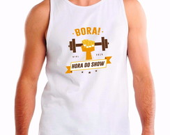 Camiseta regata bora hora do show birl