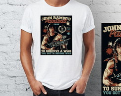 Camiseta Camisa rambo paint ball