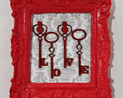 Quadro Decorativo Resina Love Chaves