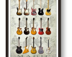 Quadro Decorativo Guitarra - PS053