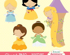 Kit Cliparts Princesas Disney