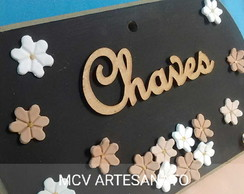 Porta Chaves personalizado MDF Biscuit