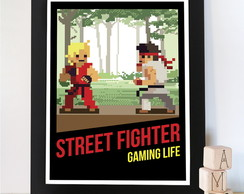 Quadro poster Gamer Street Fighter Game