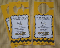 Tags para Retrovisor de Carro Snoopy