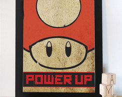 Quadro Gamer Vintage Power Up