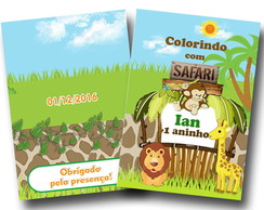revista colorir safari 14x10