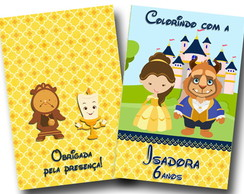 revista colorir bela e a fera cute