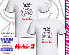 Kit 02 Camisetas New Game Personalizada