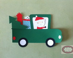Papai Noel no carro