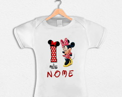 Body Infantil Minnie Com Nome