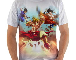 Camiseta Goku e Vegeta vs Brolly