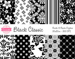 Kit Papel Digital - Black Classic