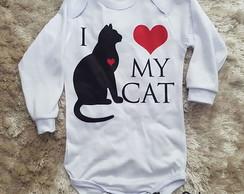 56640144a69e Body bebê Amo meu gato no Elo7   excluido_Nessa Pinturas (7EFB90)