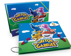 Álbum Com Caixa Super Wings