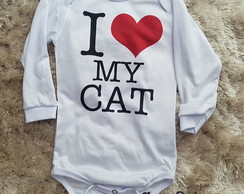 Body bebê Love my Cat