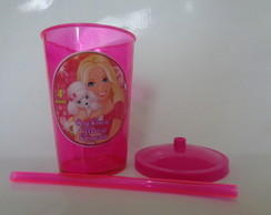 Copo c/ Canudo 700ml Barbie