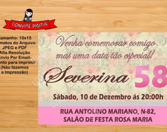 Convite Digital aniversario adulto