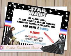 Convite Star Wars com envelope