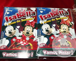 Revista De Colorir Minnie & Mickey - P