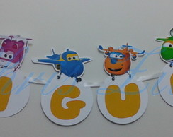 Varal Personalizado Super Wings