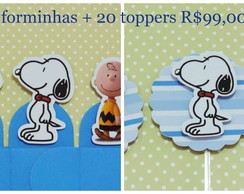 Forminha Snoopy + Topper Snoopy