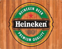 Placa Retro Gold Heineken